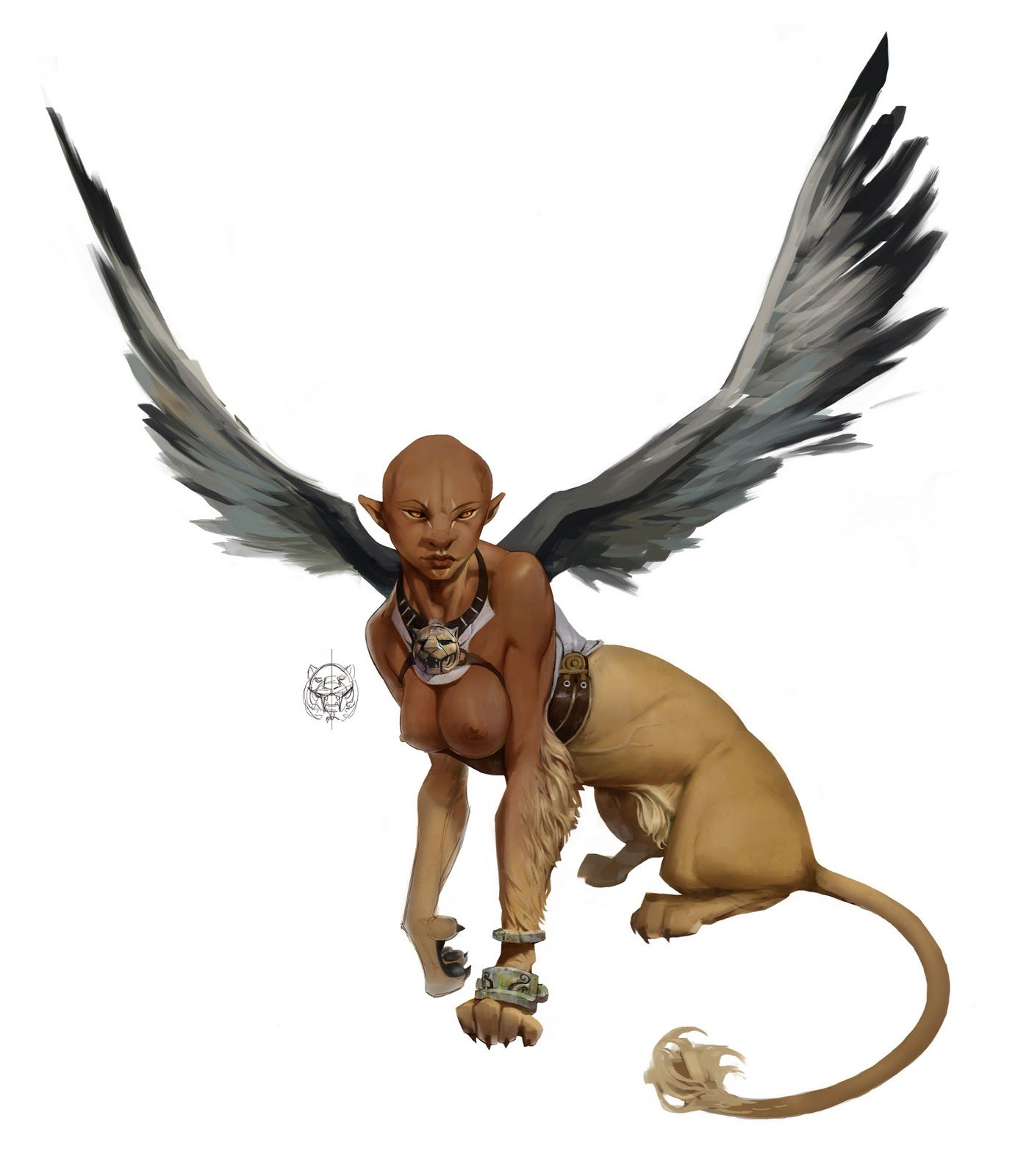 ★Sphinx★ According to Hesiod, she was a daughter of Orthus