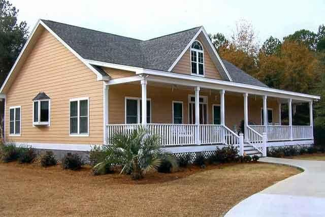 Pin by toby brittain on ideas for the house house front - Front porch designs for modular homes ...