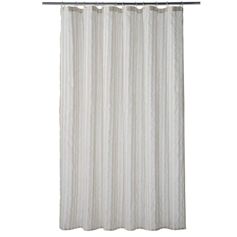 Home Classics Linen Stripe Shower Curtain Striped Shower