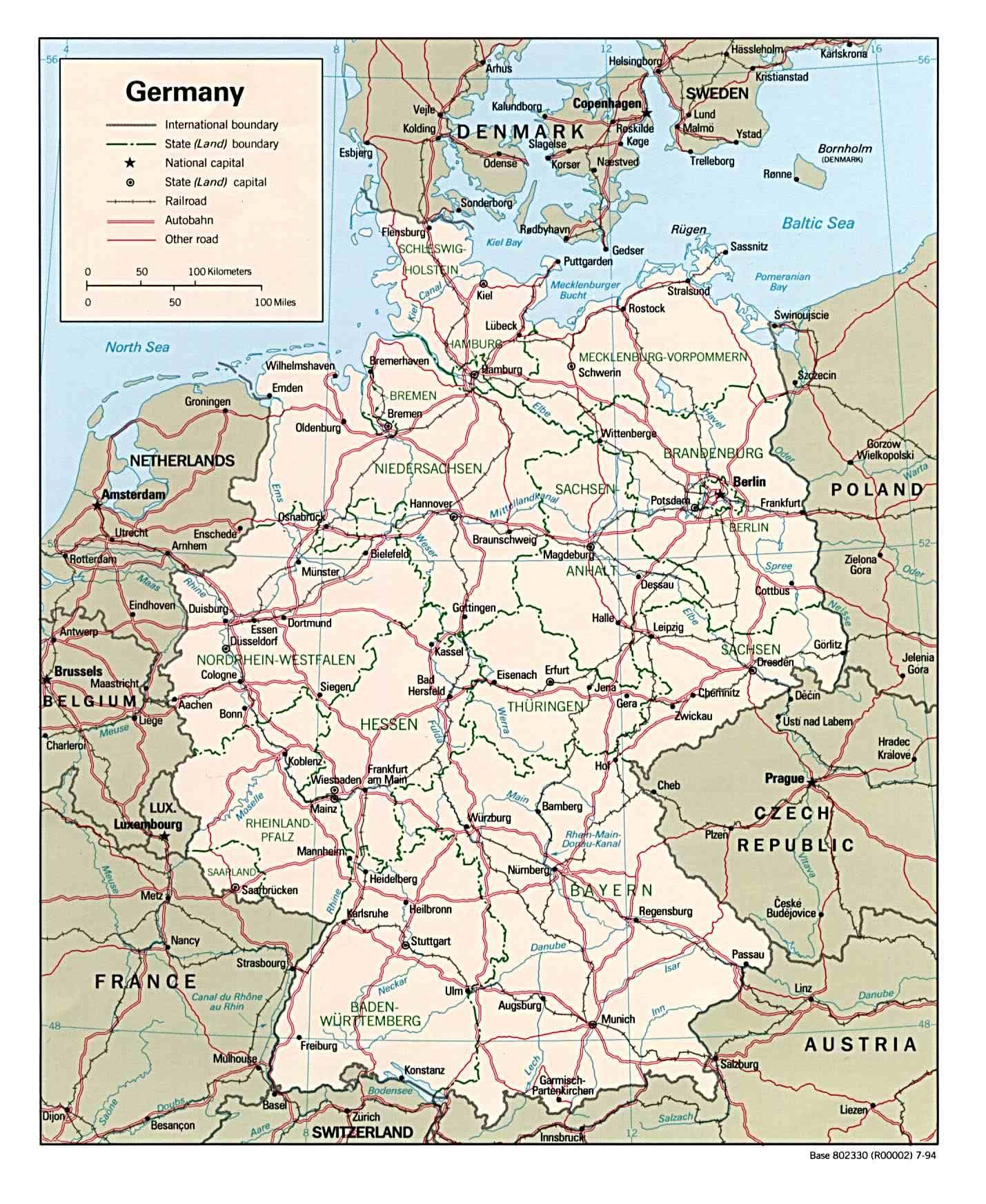 Germany, political map   Wedding   Karte deutschland ...