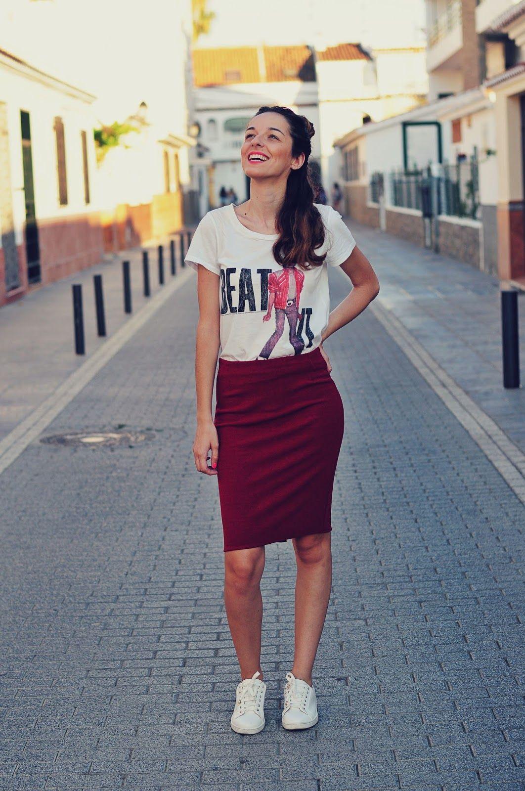 41a5e9df9e9e LOOK PARA VACACIONES (Corazón de maniquí)   Outfit   Looks con falda ...