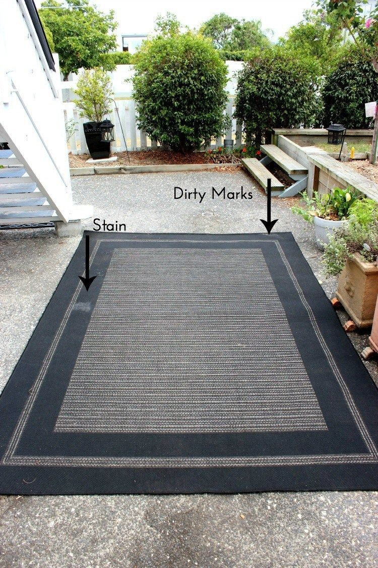 How to Clean an Outdoor RugOutdoor #outdoorrugs