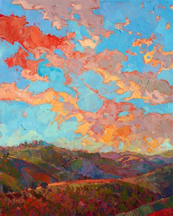 Clouds Over Paso Modern Impressionism Colorful Landscape Paintings Art Painting Abstract Landscape