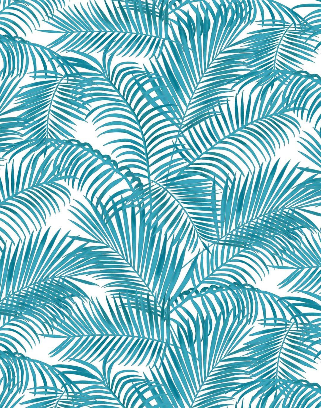 my father's castle majestic palm wallpaper, turquoise | wallpaper