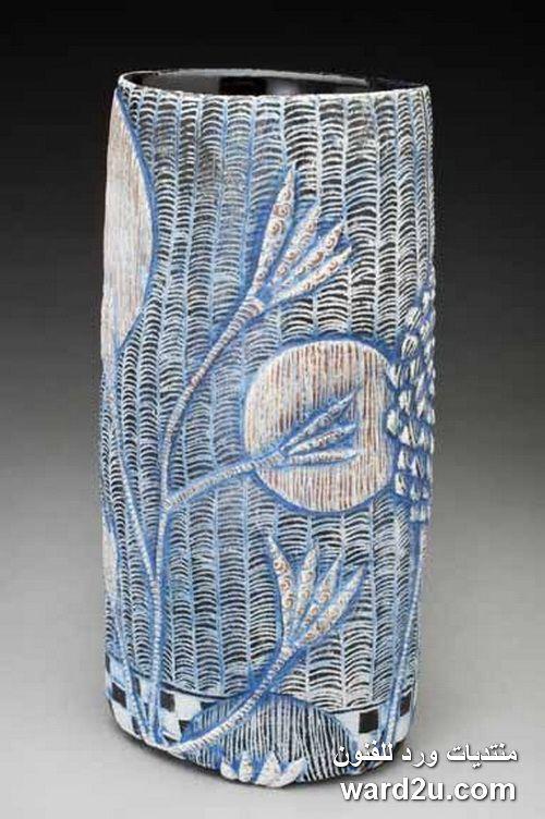 زخارف نباتية على اوانى خزفية Sarah Heimann Ceramics Ceramics Pottery Bowls Porcelain Art