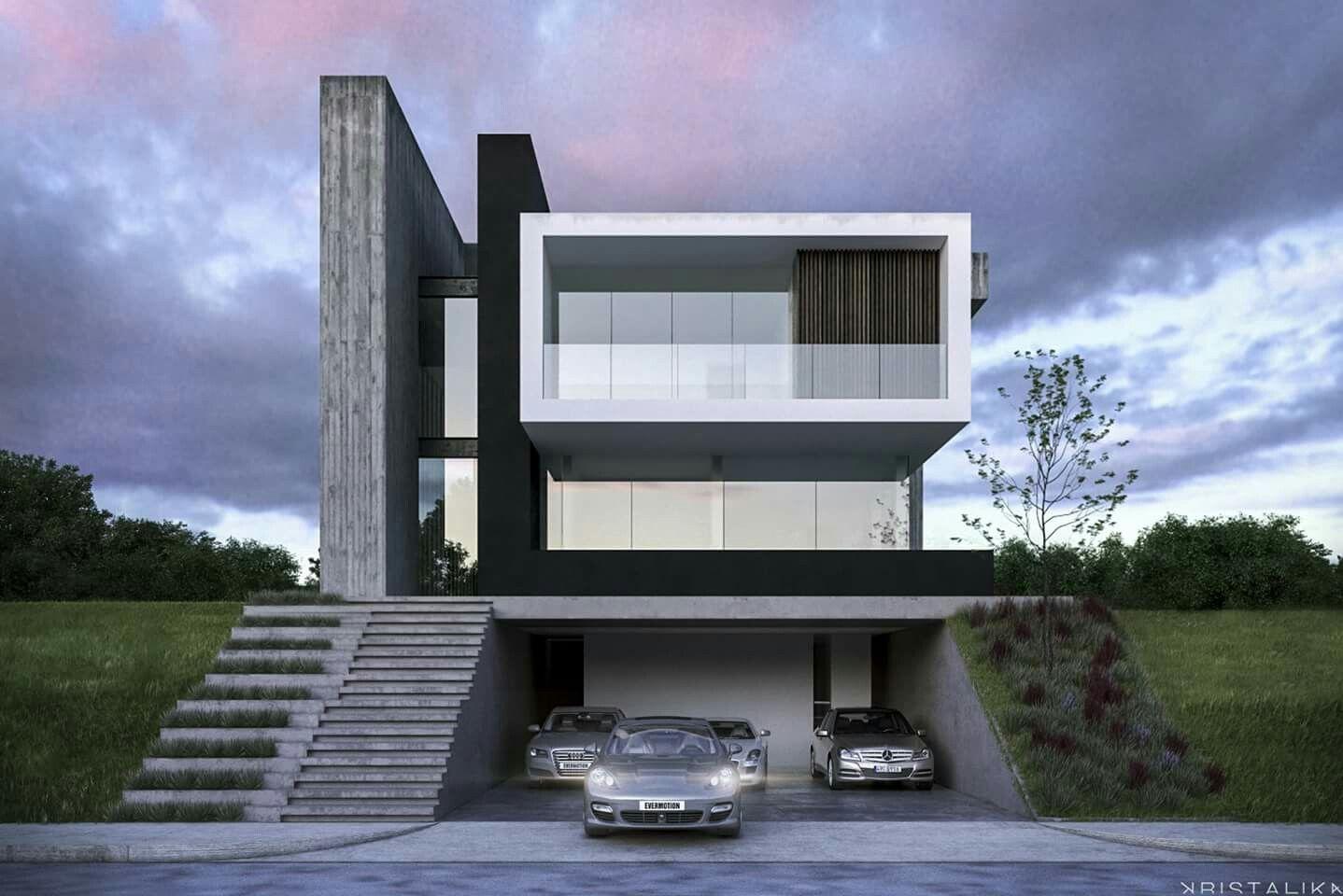 Pin de silvio chavarria en casas modern house design for Design minimalista