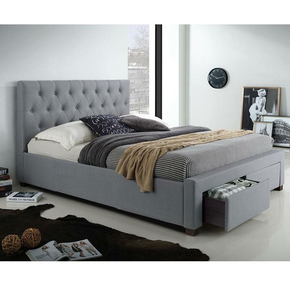 Neo Frame King upholstered bed, Stylish bedroom