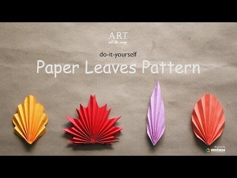 Origami Leaf Paperleaves Diy Design Craft Making Tutorial Easy Cutting From Paper Step