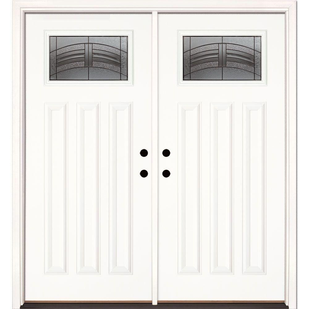 Feather river doors in x in rochester patina craftsman