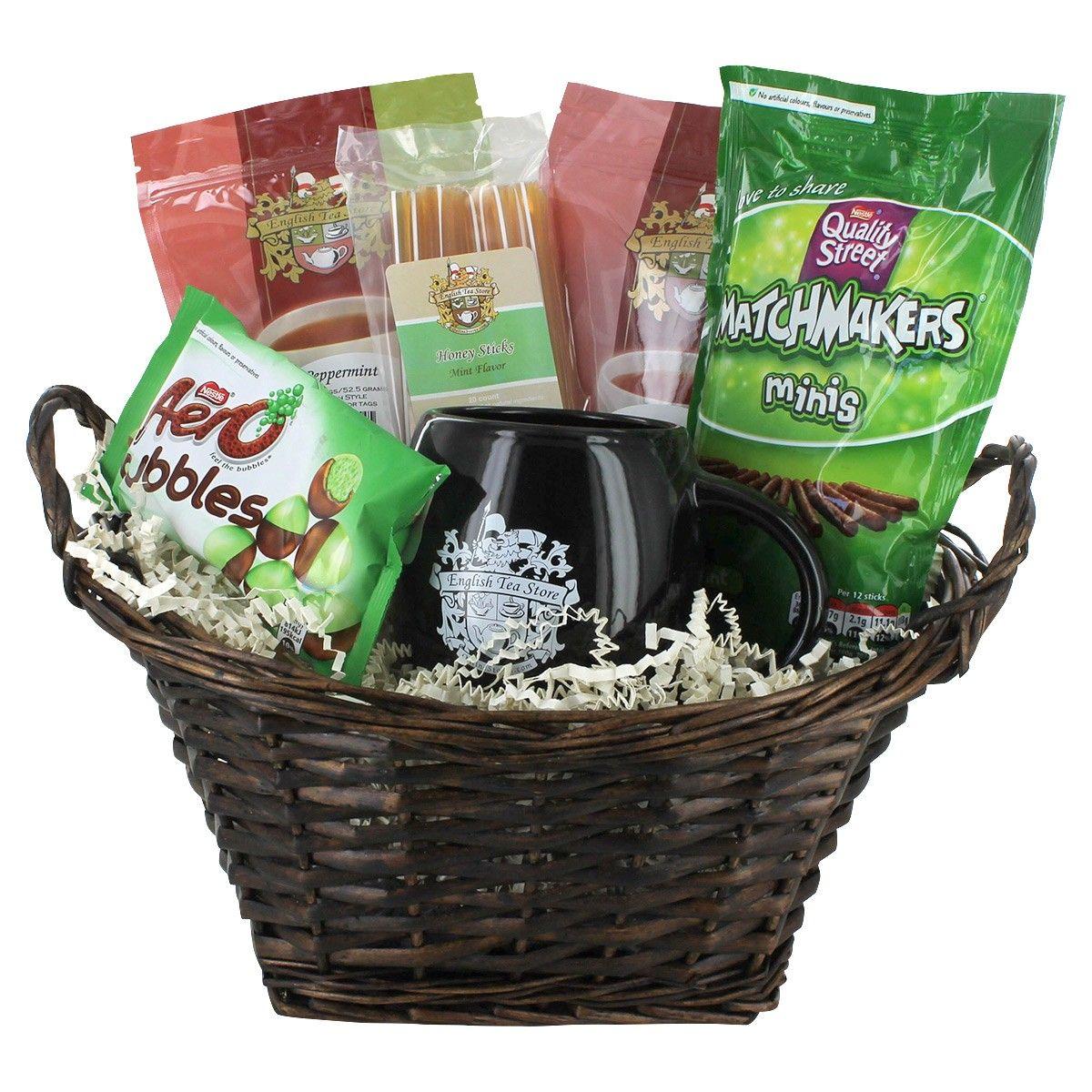 Camomile mint teatime gift basket