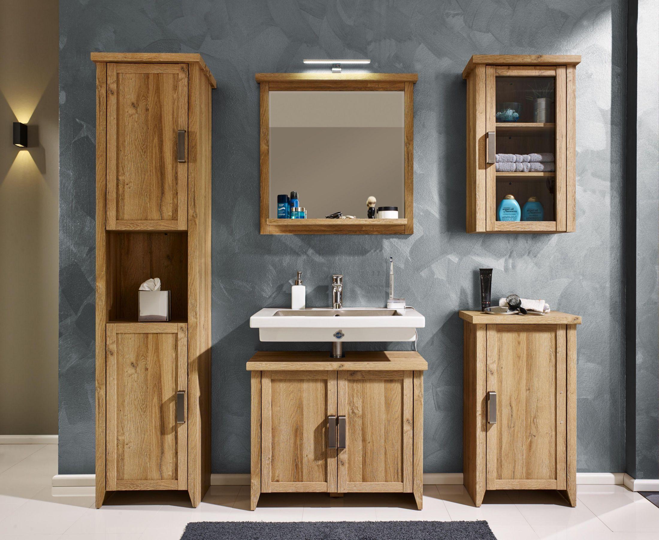 Badezimmer Set 5 Tlg In Alteiche Woody 93 01214 Holz Landhaus Jetzt  Bestellen Unter