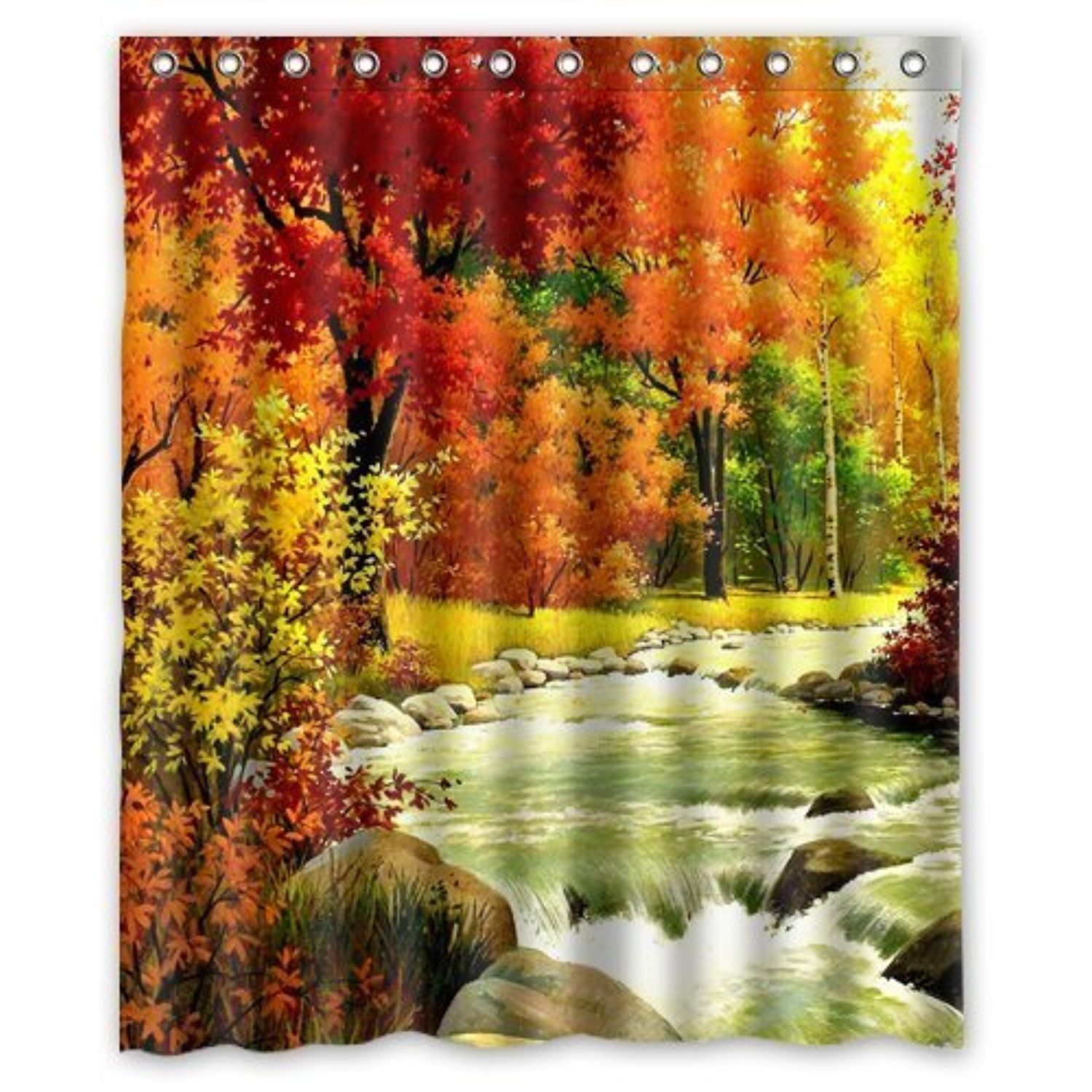 Custom Personalized Autumn Shower Curtain 60 x 72 -- Awesome ...