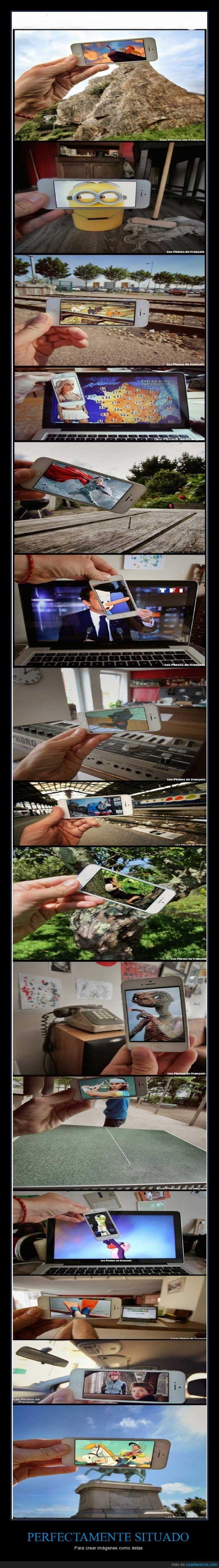 Smartphone + realidad - Para crear imágenes como éstas