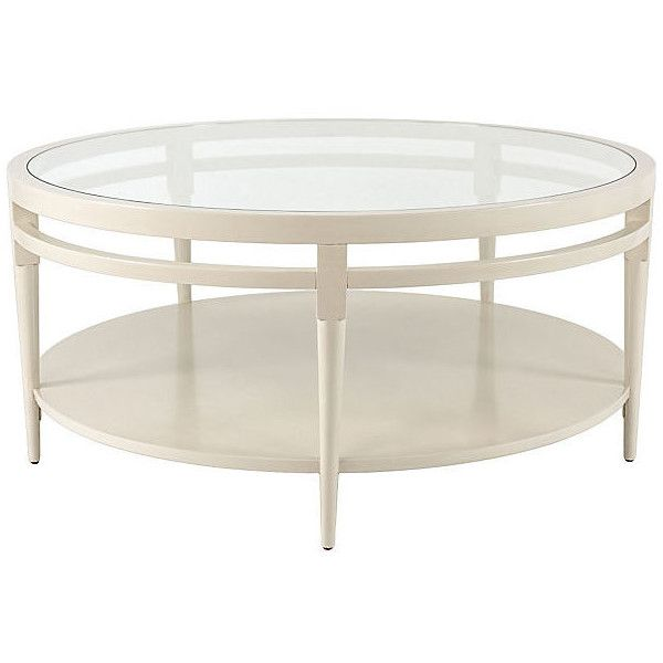 Sydney Round Coffee Table Cream Sofa Table $1 269 ❤ liked on
