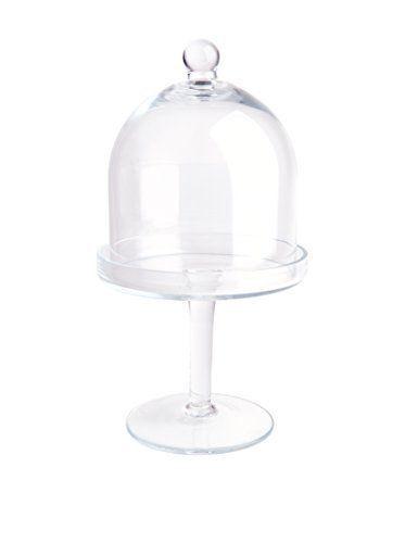 excelsa-presentoir-a-gateaux-avec-cloche-verre-transparent-28-cm