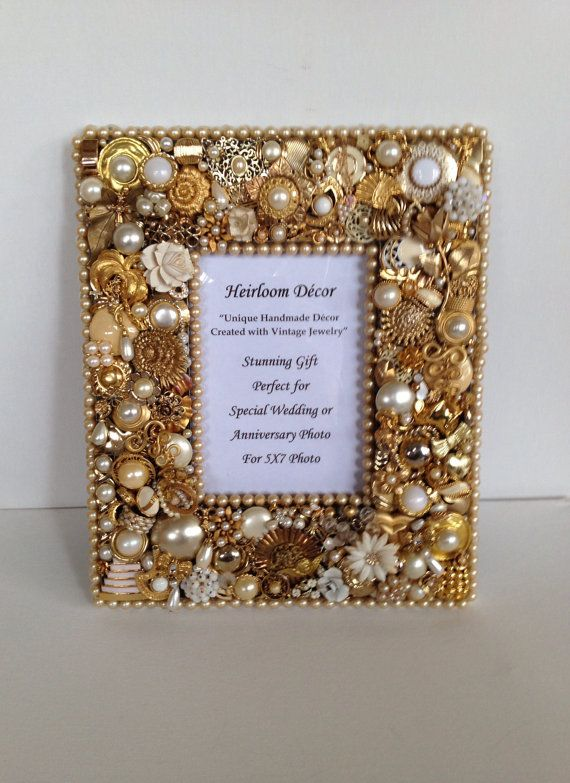 Sale Frame Embellished With Gold Pearl Vintage Jewelry Gold Photo
