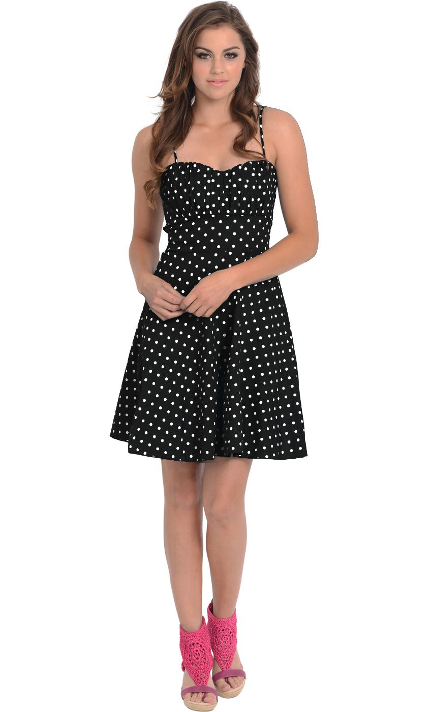 bdb6d01848f 50s Retro Rockabilly Polka Dot Dress Sundress  44.99
