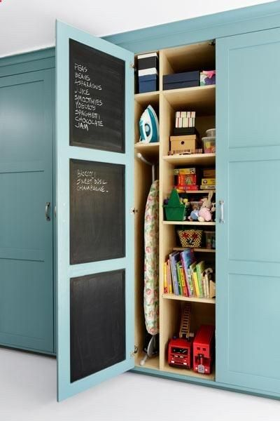 Create A Hidden Memo Board Inside A Pantry Door For A Handy Place To Record  Your Grocery List And Calendar. All It Requires Is A Few Coats Of Chalku2026