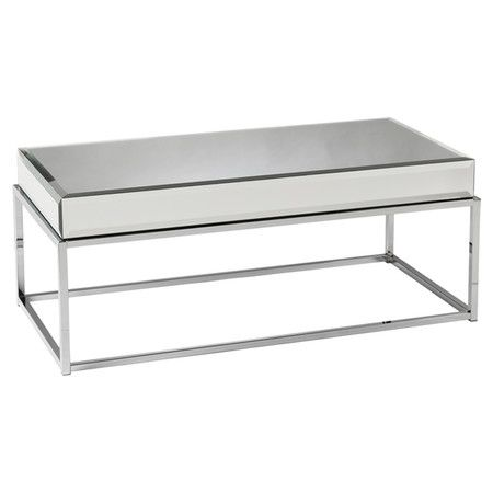 Found it at Wayfair Kyla Mirrored Coffee Table in Chrome