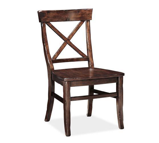 Aaron Wood Seat Chair   Pottery Barn $279 each   Kitchen   Pinterest ...
