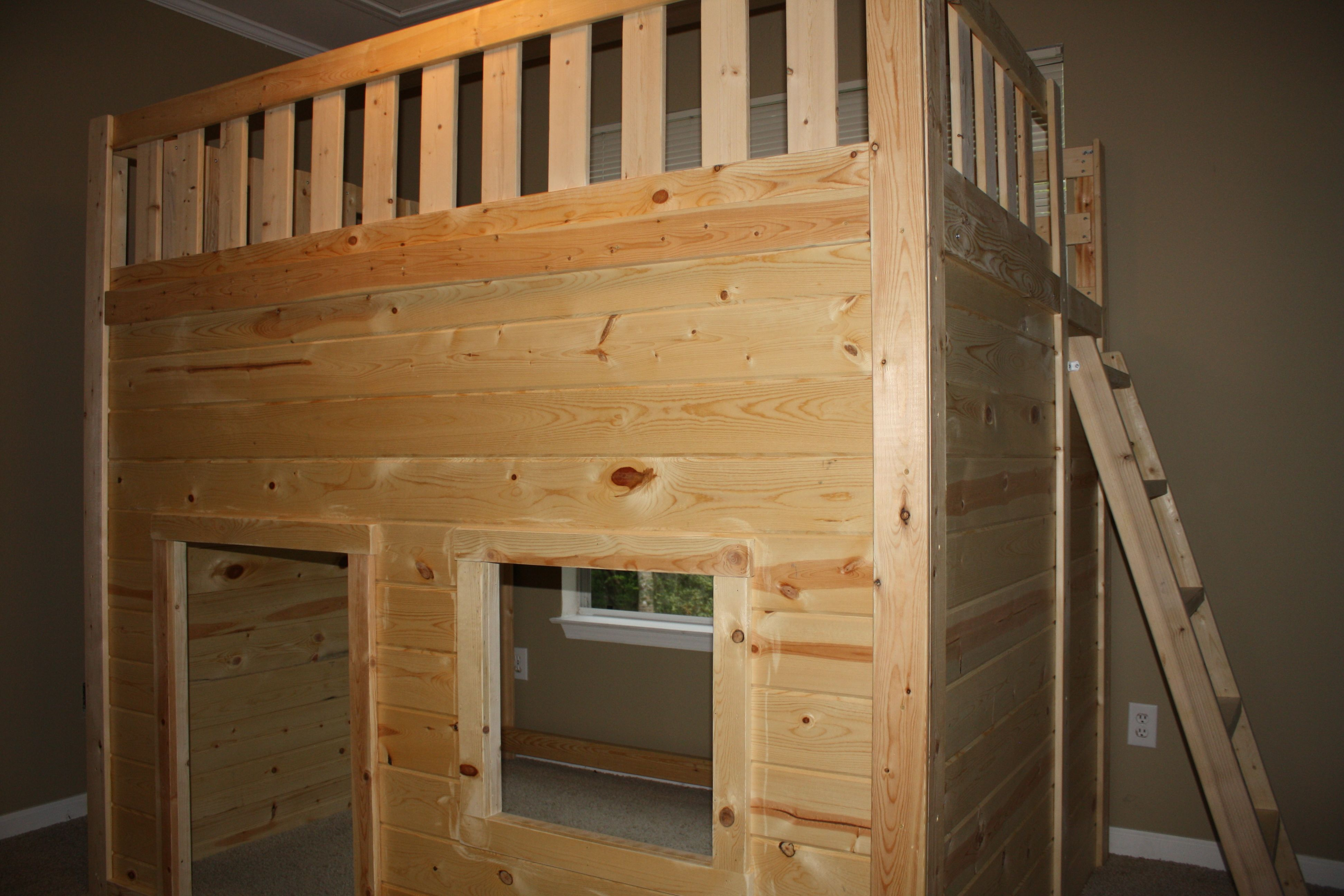 the clubhouse loft bed custom made to fit two queen sized