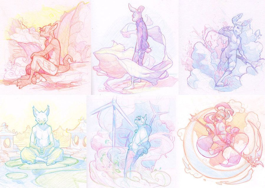 Pin By Tiki T On Artsy Fartsy In 2019: Sketch Commissions 1-6 By ~HotaruArc