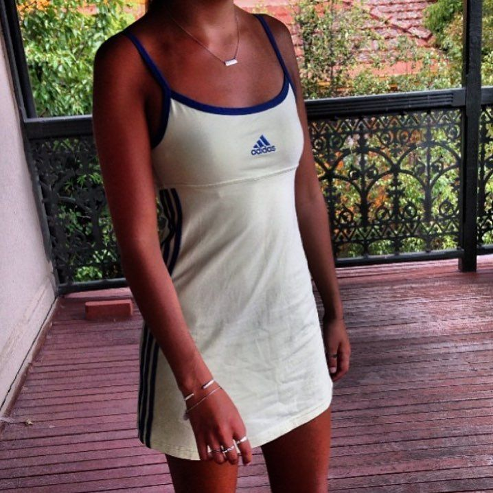 The Drobe On Instagram Vintage Adidas Tennis Dress Size 8 Tennis Dress Adidas Tennis Dress Tennis Dress Outfit