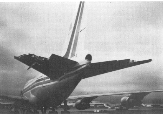 Damaged Empennage Of China Airlines Flight 006 N4522v China Airlines Flight 006 Wikipedia Airline Flights China Airlines Japan Airlines Flight 123