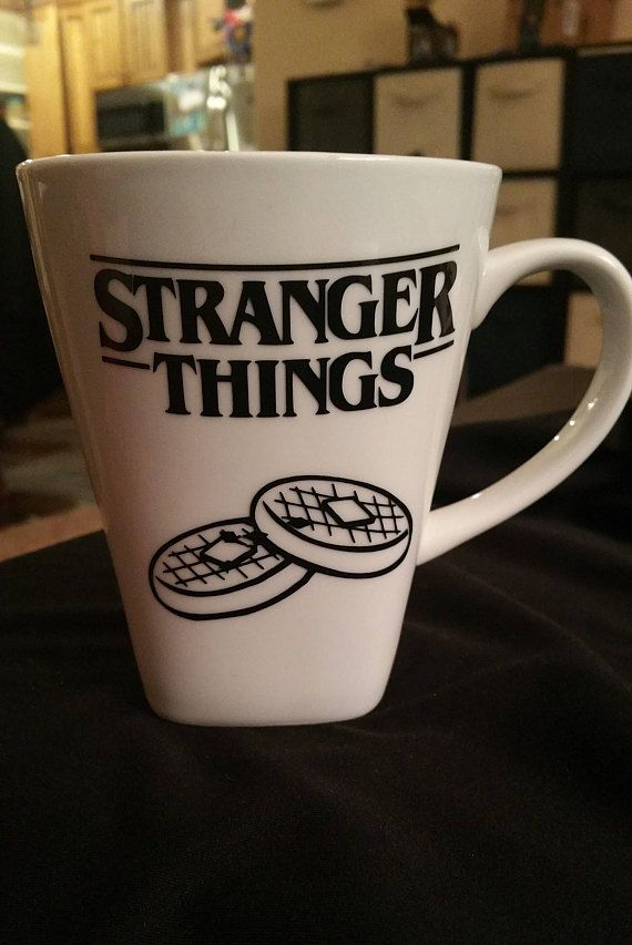 b6bb5de46f4 Stranger Things Waffles Logo Coffee Mug TV Show Cup Standard ...