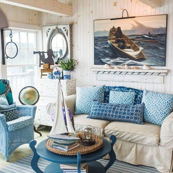 Spotted in Down East Magazine love this cozy seaside Maine Cottage