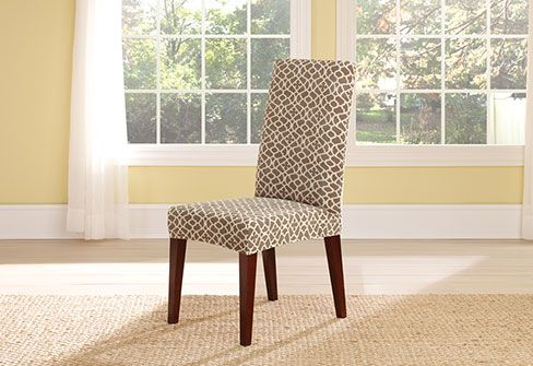 Sure Fit Slipcovers Stretch Ironworks Short Dining Chair Covers Enchanting Stretch Covers For Dining Room Chairs Decorating Inspiration