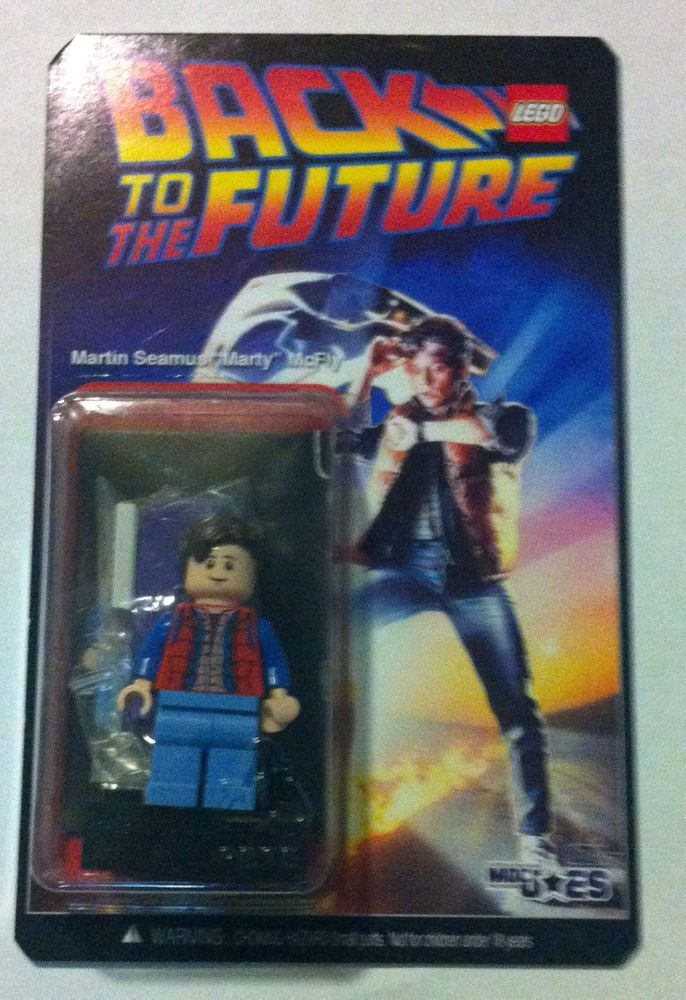 Lego Back To The Future Marty Mcfly On A Custom Card