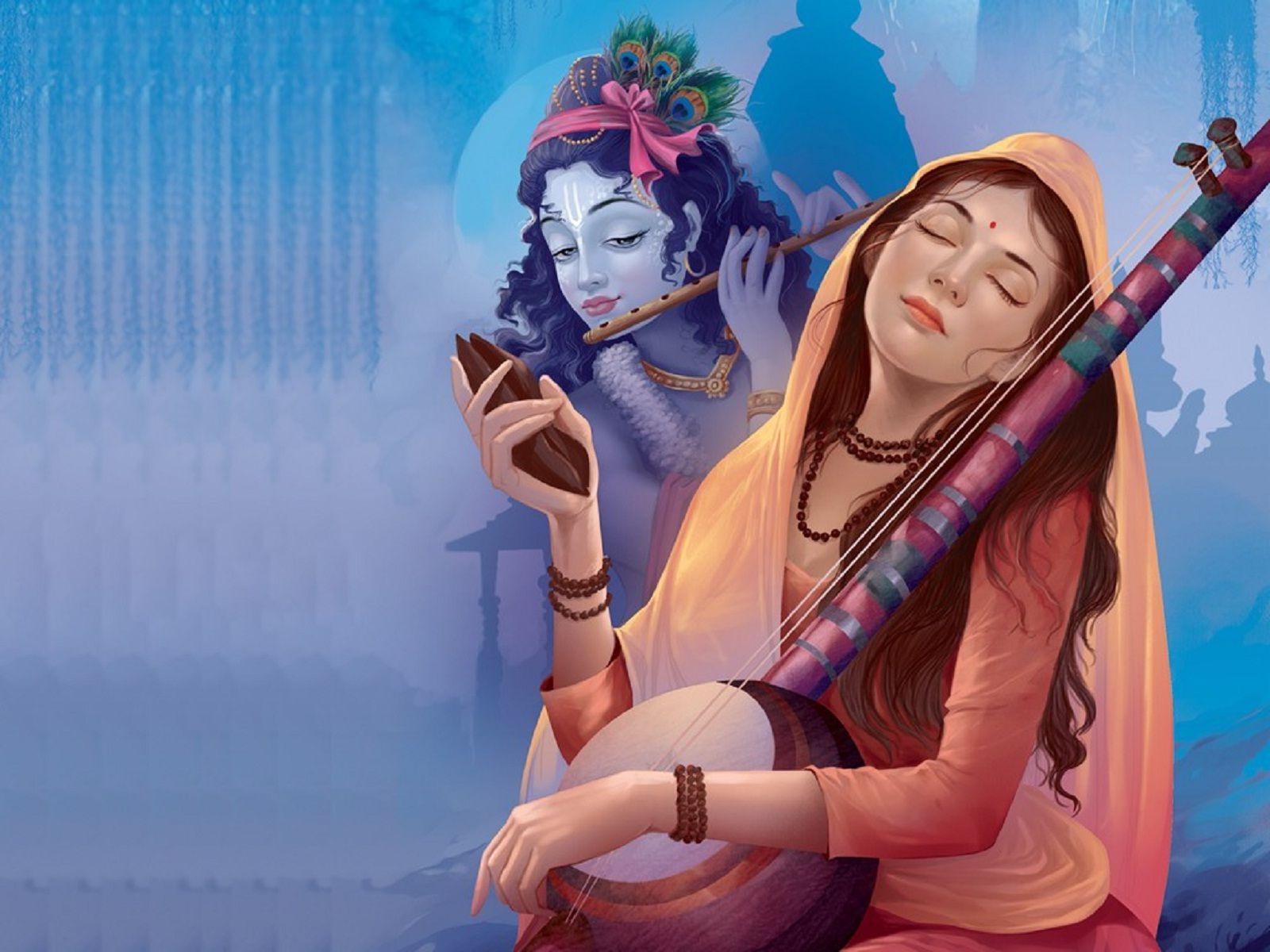 Happy Janmashtami Meera Bai And Krishna Wallpaper With Images