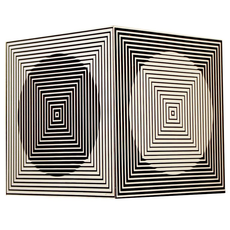 Victor Vasarely Cube Sculpture #1stdibs