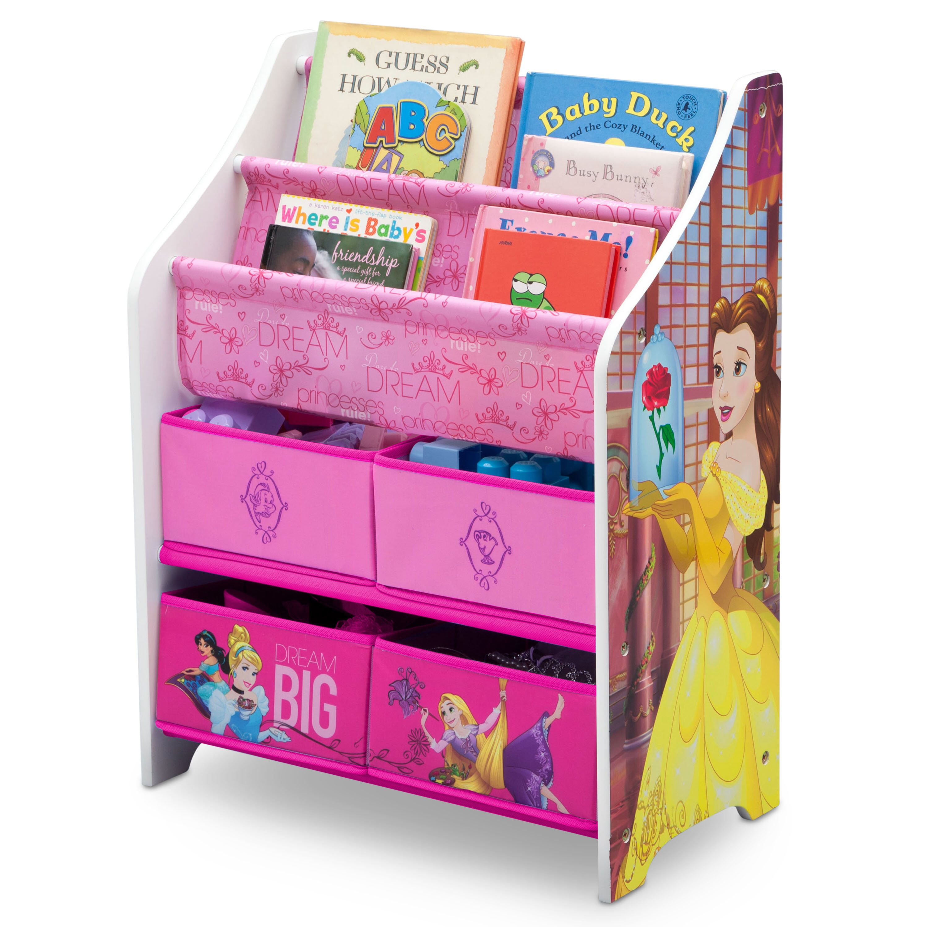 Disney Princess Book And Toy Organizer Toy Organization Disney Princess Books Disney Princess Toys