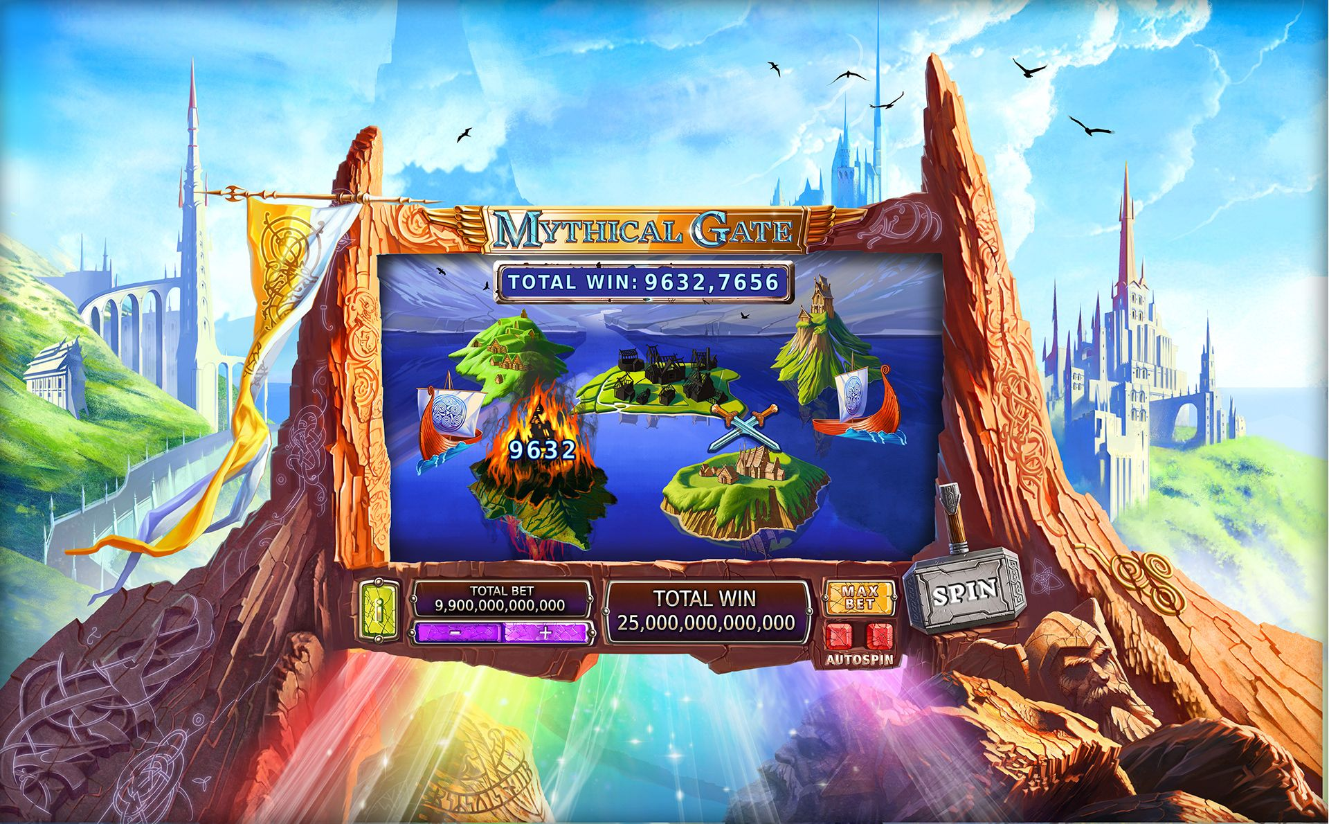 Slot Mythical Gate on Behance Game inspiration, Play