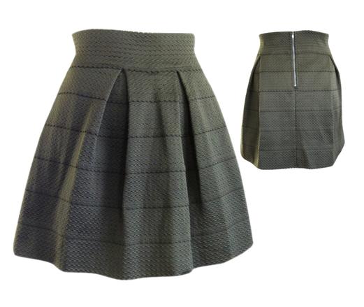 Stretch Panel Flared Skirt in Olive, $34 #shoppitaya