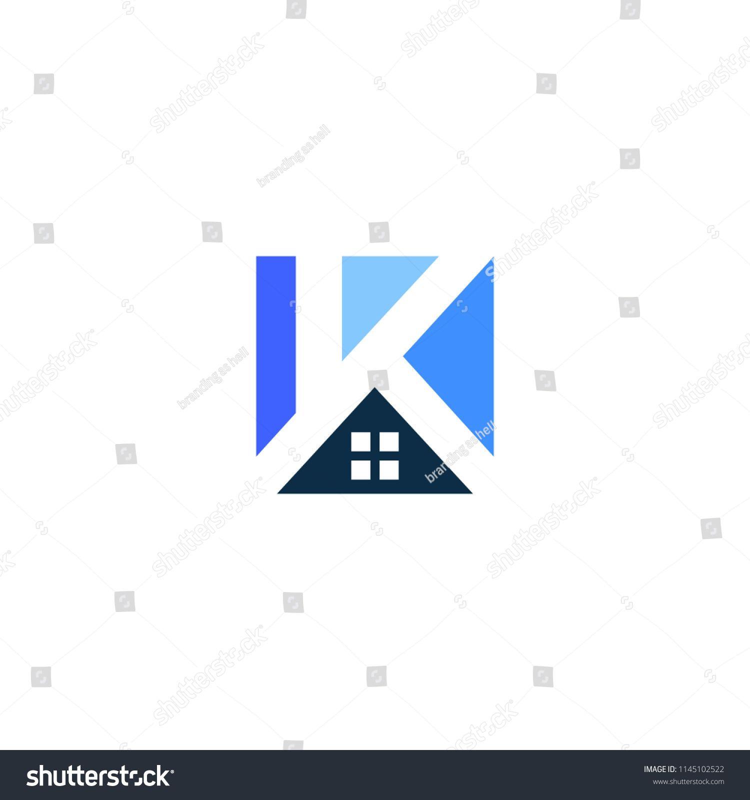 K letter house home logo vector icon illustration logo house
