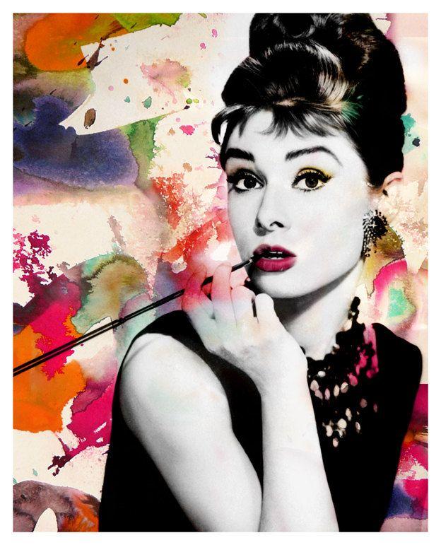 Audrey Hepburn - Modern Art Poster - | Audrey | Pinterest | Audrey ...
