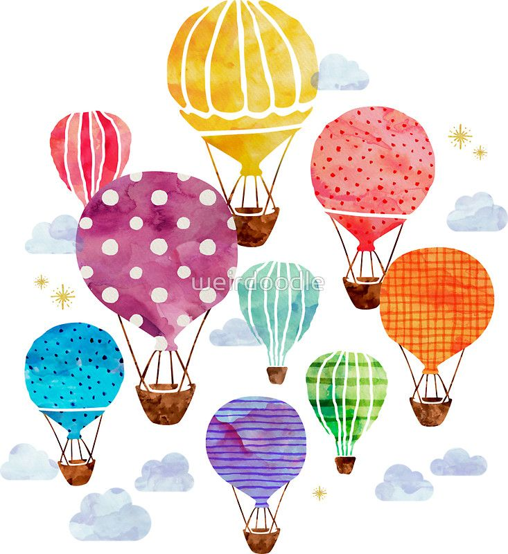 Hot Air Balloon Sticker Balloon Painting Balloon Illustration