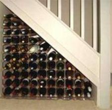 How To Build An Under The Stair Wine Rack Ehow Staircase Storage Under Stairs Wine Cellar Wine Cellar Design