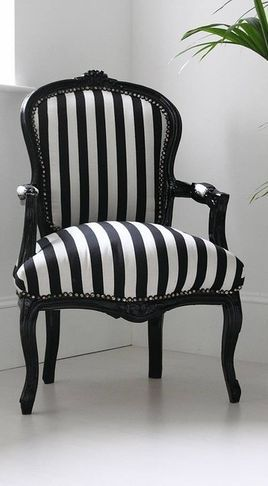 black and white fabric for antique chair Ideas
