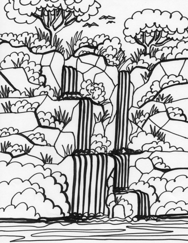Waterfall Coloring Pages Best Coloring Pages For Kids Jungle Coloring Pages Printable Christmas Coloring Pages Christmas Coloring Pages