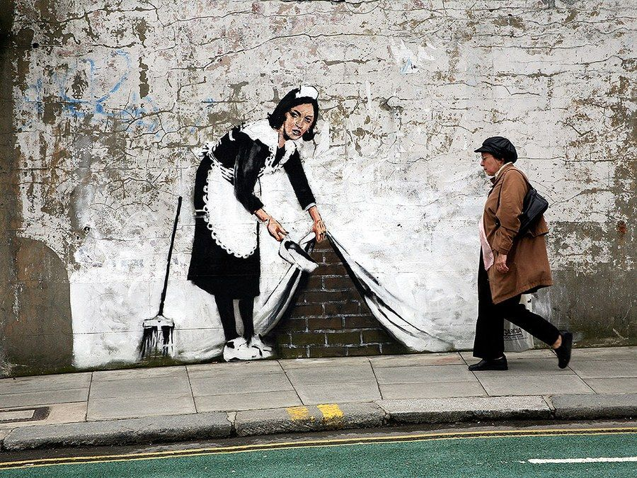 Photos: Banksy's Street Art Around the World #streetart