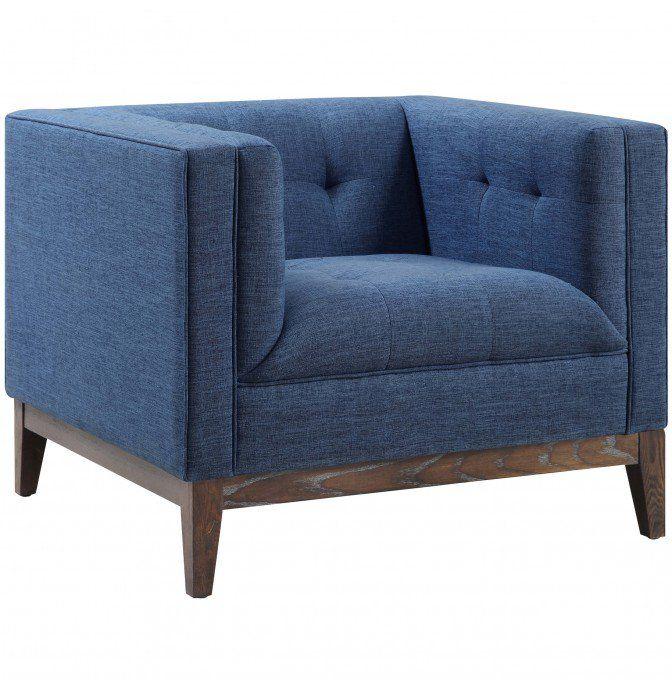 Elegant Gavin Chair Blue New Design - Beautiful modern blue chair