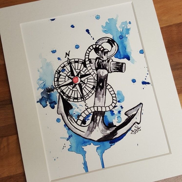 nautical lovers remain calm after a special request to paint a nautical themed design i decided to also make them available as prints