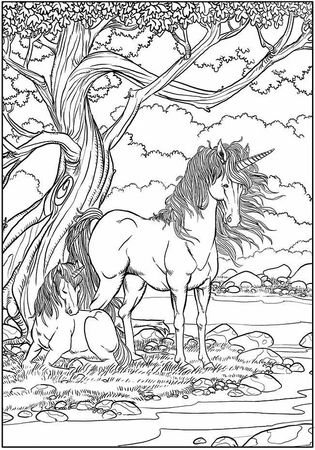 Realistic Unicorn Coloring Pages Kids Learning Activity In 2020 Unicorn Coloring Pages Animal Coloring Pages Horse Coloring Pages