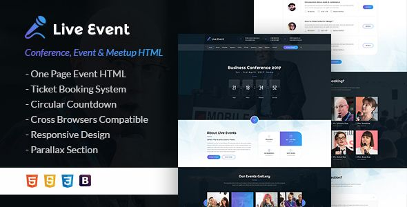 Live Event – HTML is modern and fresh design template for Event ...