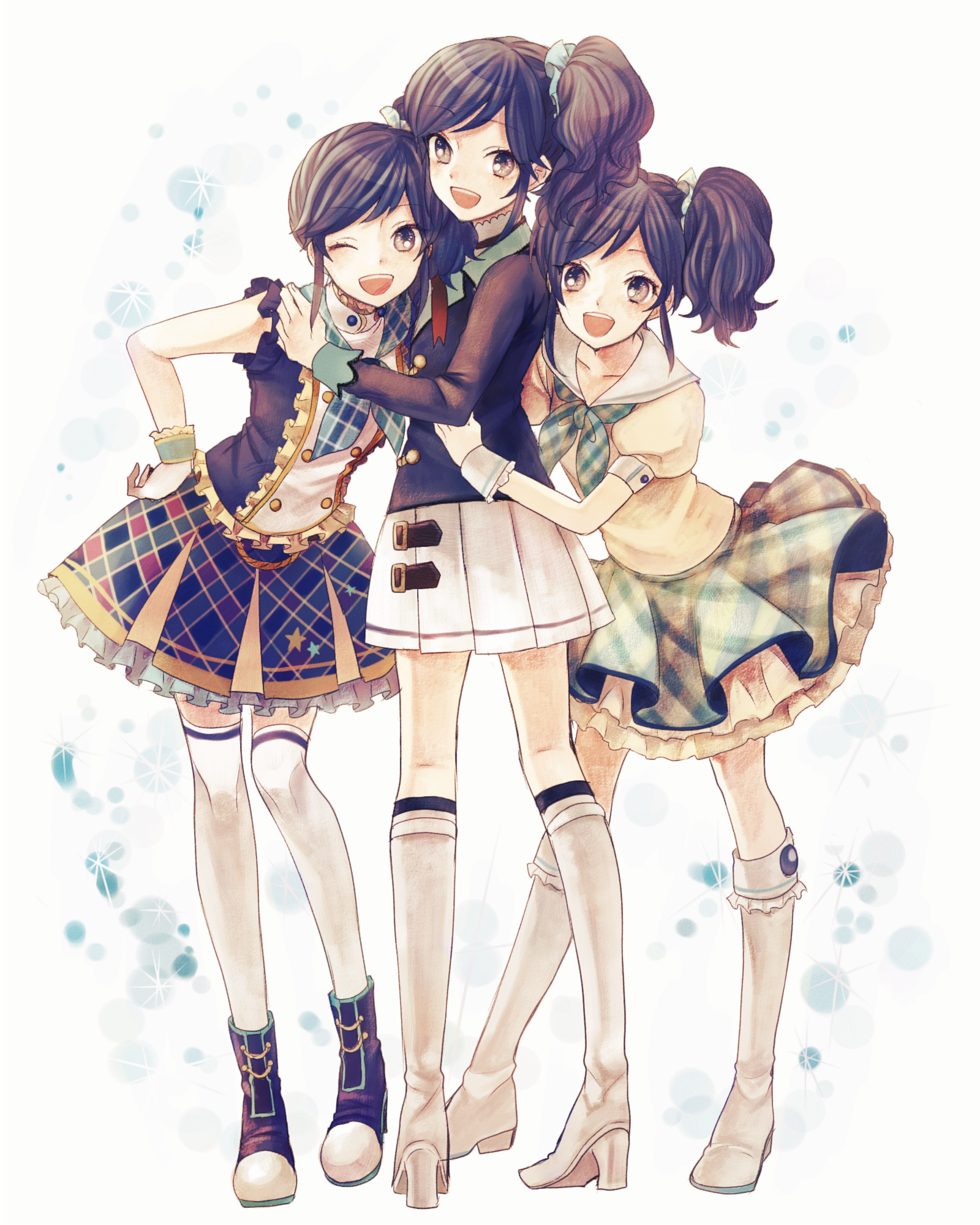 The three secret sisters anime group of friends anime best friends friends girls
