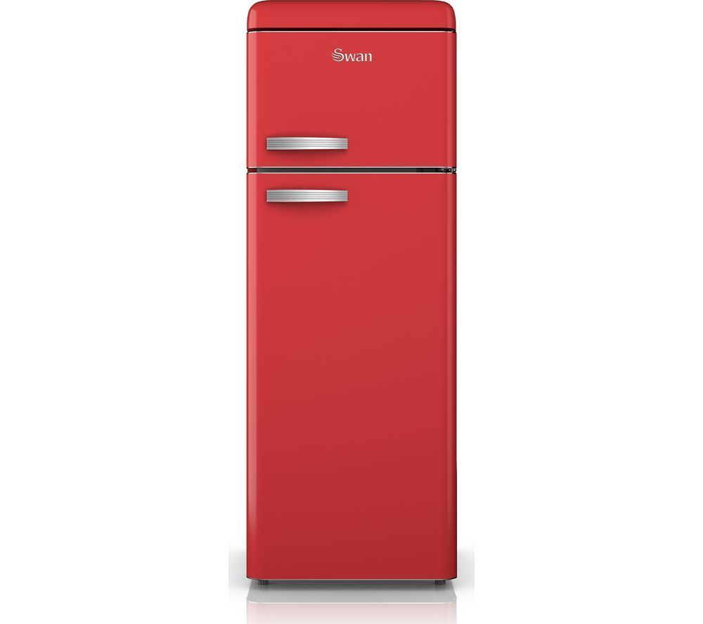 Swan srrn fridge freezer red bestpricefridgefreezer